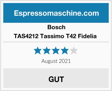 Bosch TAS4212 Tassimo T42 Fidelia  Test