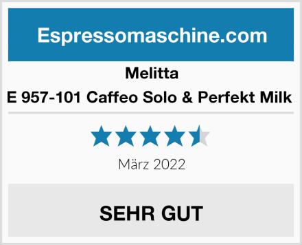 Melitta E 957-101 Caffeo Solo & Perfekt Milk  Test