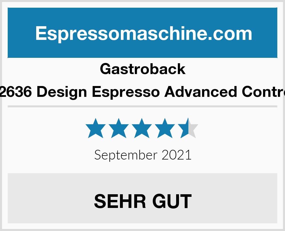 Gastroback 42636 Design Espresso Advanced Control Espressomaschine ...