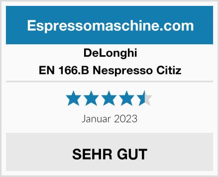 DeLonghi EN 166.B Nespresso Citiz Test