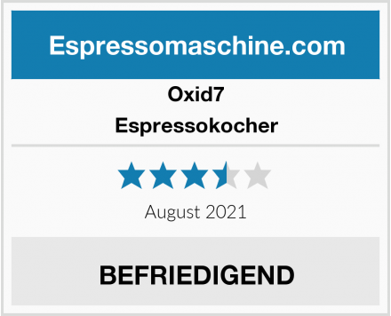 Oxid7 Espressokocher Test