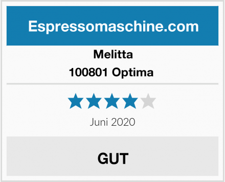 Melitta 100801 Optima  Test