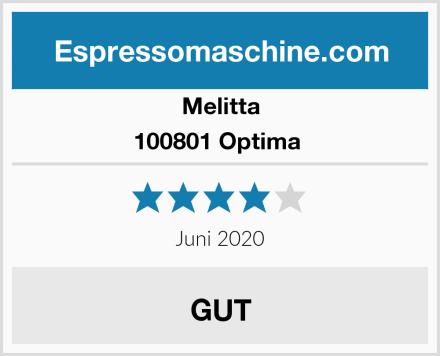 Melitta 100801 Optima  Test