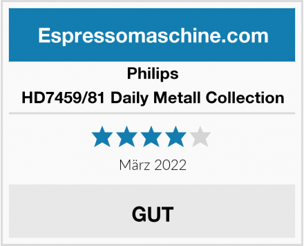 Philips HD7459/81 Daily Metall Collection Test
