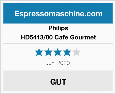 Philips HD5413/00 Cafe Gourmet Test