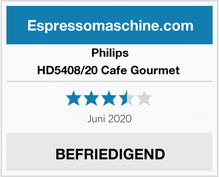 Philips HD5408/20 Cafe Gourmet  Test
