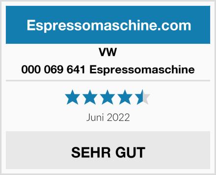 VW 000 069 641 Espressomaschine Test