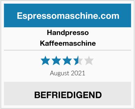 Handpresso Kaffeemaschine Test