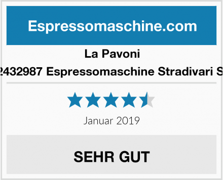 La Pavoni 862432987 Espressomaschine Stradivari SPH Test