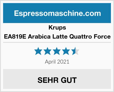 Krups EA819E Arabica Latte Quattro Force Test