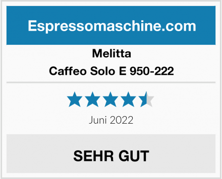 Melitta Caffeo Solo E 950-222 Test