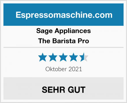 Sage Appliances The Barista Pro Test