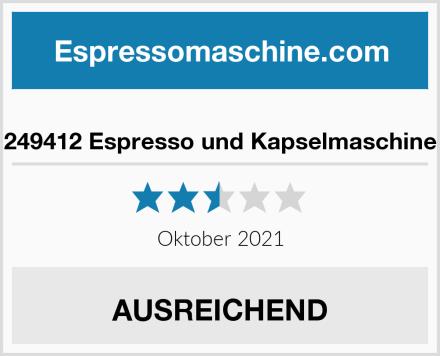 249412 Espresso und Kapselmaschine Test