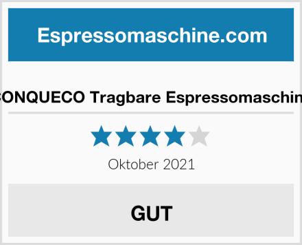 CONQUECO Tragbare Espressomaschine Test