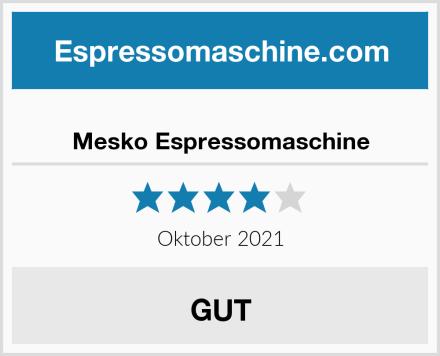 Mesko Espressomaschine Test