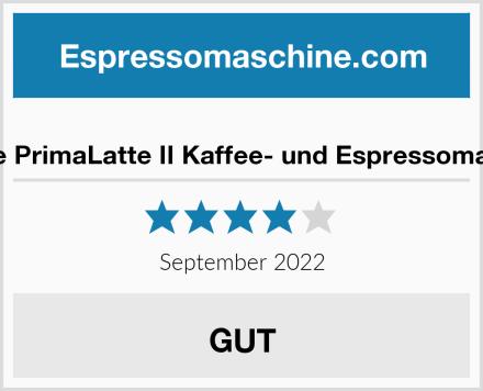 Breville PrimaLatte II Kaffee- und Espressomaschine Test