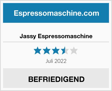 Jassy Espressomaschine Test