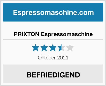 PRIXTON Espressomaschine Test