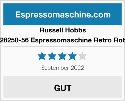 Russell Hobbs 28250-56 Espressomaschine Retro Rot Test