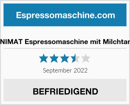 UNIMAT Espressomaschine mit Milchtank Test