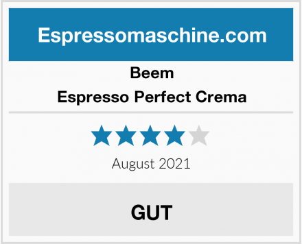 Beem Espresso Perfect Crema Test