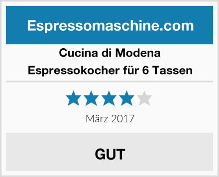 Cucina di Modena Espressokocher für 6 Tassen Test