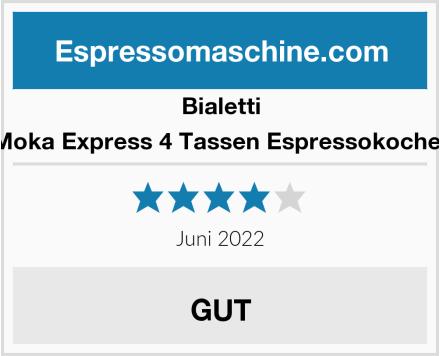 Bialetti Moka Express 4 Tassen Espressokocher Test