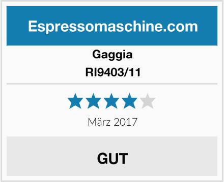 Gaggia RI9403/11 Test
