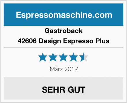 Gastroback 42606 Design Espresso Plus Test
