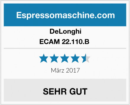 DeLonghi ECAM 22.110.B  Test
